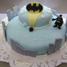 Torta Glassata Decorata Batman