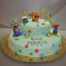 Torta Glassata con Personaggi Disney